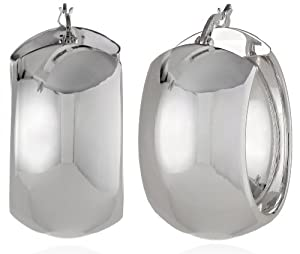 "Wide Polished 1"" Hoop Earrings by Jacmel Jewelry Inc. -ACC"