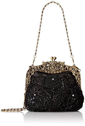 MG Collection Vintage Style Hand Beaded Evening Purse Bag