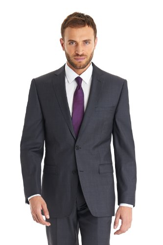 French Connection Tailored Fit 2 Piece Twill Suit Grey - 34R