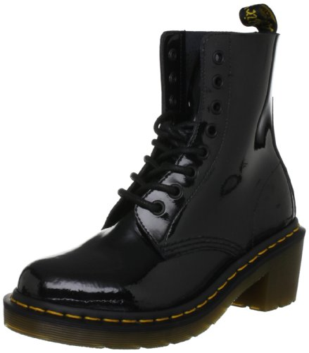 Dr. Martens Women's Clemency Patent Black Lace Ups Boots 14638002 7 UK