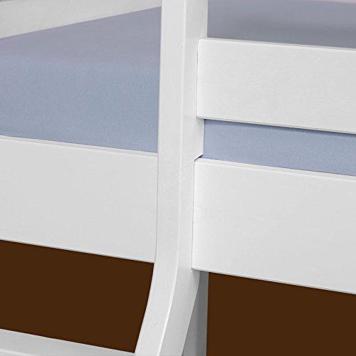 Relita lits superposés denise maissv de pin lattes incluses blanc