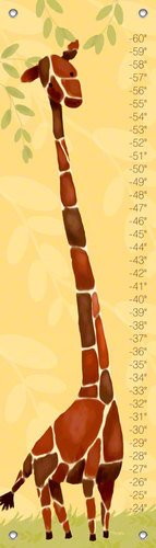 Oopsy daisy Gillespie Giraffe Growth Chart by Meghann O'Hara, 12 by 42 Inches