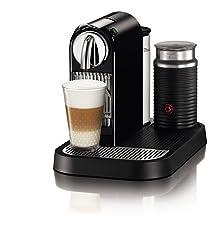Nespresso D121-US-BK-NE1 Citiz Espresso Maker with Aeroccino Milk Frother, Black by Nespresso