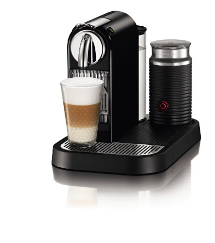 Review Nespresso D121-US-BK-NE1 Citiz Espresso Maker with Aeroccino Milk Frother, Black