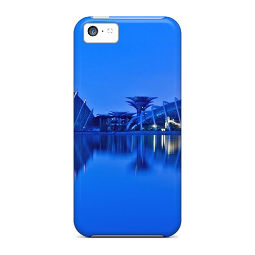High-End Case Cover Protector For Iphone 5C(Gardens By Singapore Gulf Metropolis Lights) front-928563
