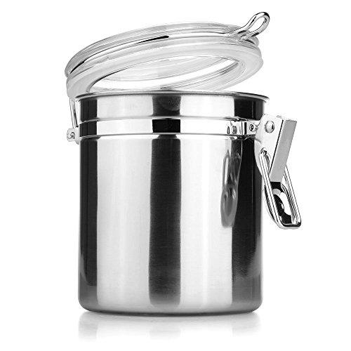 Sonline Pot Boite Bocal Sucrier Alimentaire a epice Sucre Poivre Sel Cuisine 11*9.3*10CM