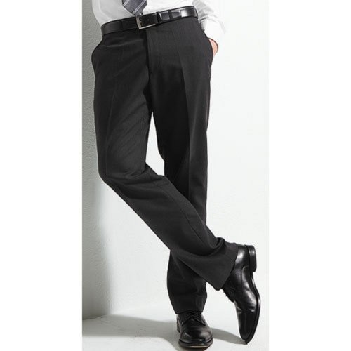 Men`s Suit Trousers Super120`s Marzotto charcoal grey