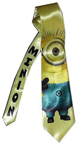 2016-Arrival-One-eyed-Minion-Satin-Neck-tie-Despicable-Me