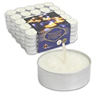 Tealight Candles White Unscented Set…
