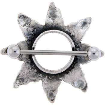Sizzling Surgical Steel Sun Nipple Shield Body Jewelry 3/4