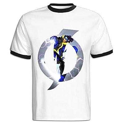 C-DIY Men's Color Block T Shirt High Quality Static Tv Poster Black