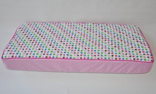 Botanical Pink Quilted Top Crib Sheet
