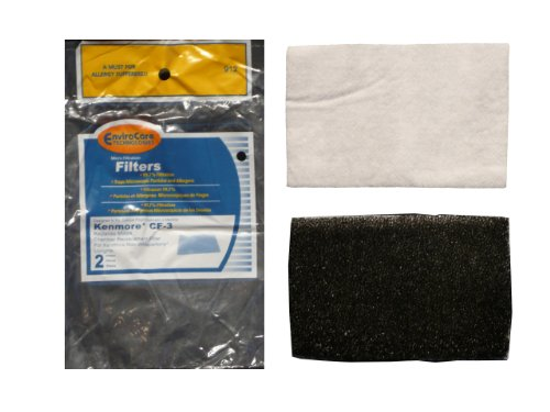 (2) Kenmore Vacuum CF-3 Foam Filter 86888, Sears upright, Non whispertone, Canister Vacuum Cleansers, 20-86888, 02080006000, 4369572, 610534, 116-35922500 (Kenmore Model 116 Vacuum Parts compare prices)