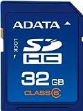 ADATA 32GB Class 6 SDHC Flash Memory Card ASDH32GCL6-R