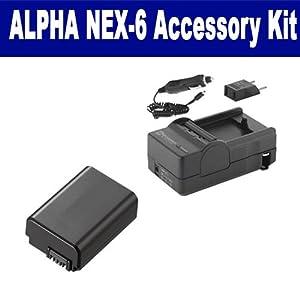 Sony Alpha NEX-6 Digital Camera Accessory Kit includes: SDNPFW50 Battery, SDM-1530 Charger
