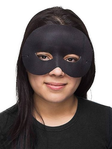 Black Cocktail Half Mask - 1