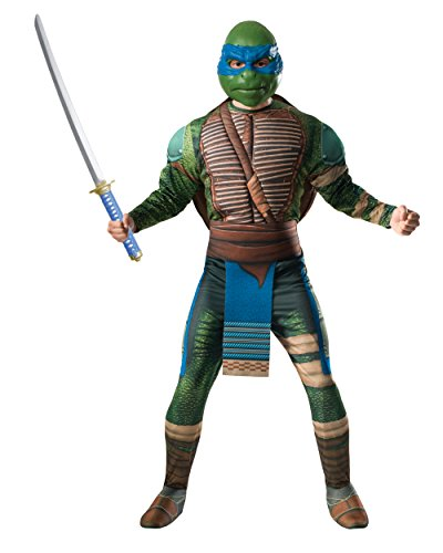 Adult's Mens Deluxe Teenage Mutant Ninja Turtles Movie Leonardo Costume Bundle