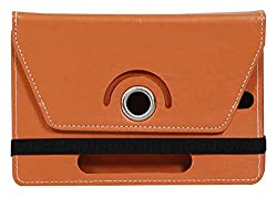 Jkobi 360* Rotating Front Back Tablet Book Flip Case Cover For IBerry Auxus AX04 (Universal) -Brown