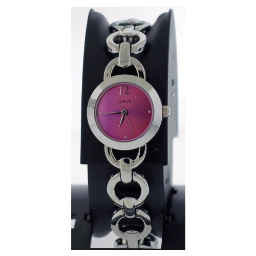 WOMENS LORUS SEIKO PURPLE IRID BRACELET WATCH 718 *