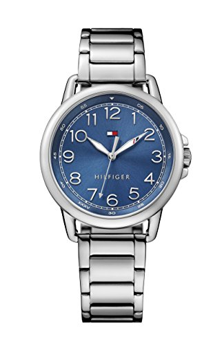 tommy-hilfiger-casey-womens-quartz-watch-with-blue-dial-analogue-display-and-silver-stainless-steel-