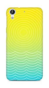 Amez designer printed 3d premium high quality back case cover for HTC Desire 626 G (Sun And Ocean Line)
