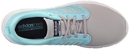 Adidas NEO Women's Cloudfoam Groove W Casual Sneaker,Clear Onix Grey/Blue Zest/Collegiate Navy,6 M US