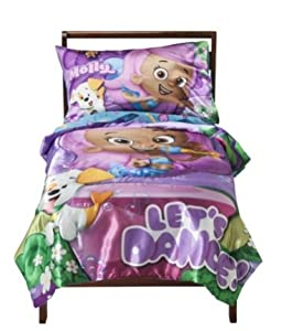 Amazon.com : Nickelodeon Bubble Guppies 4-piece Bed Set ...