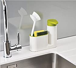 Sink Organizer 2 in 1 set for soap dispenser brushes cloth soap sponge etc - MosQuick