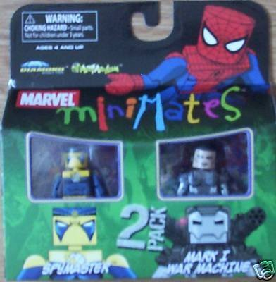Picture of Art Asylum Marvel MiniMates Series 23 Mini Figure 2Pack Spymaster & Mark I War Machine (B001QMPSV2) (Marvel Action Figures)