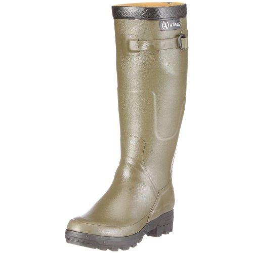 Aigle Unisex Benyl M Kaki Wellingtons Boots 85787 5 UK, 38 EU