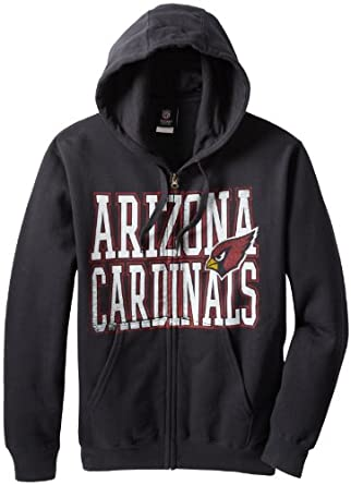 NFL Arizona Cardinals Touchback V Full Zip Hooded Sweatshirt, Black, Medium by VF LSG