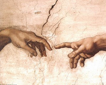 The Creation of Adam fragment by Michelangelo Buonarroti Art Poster Print 20x16B0000WJPP4