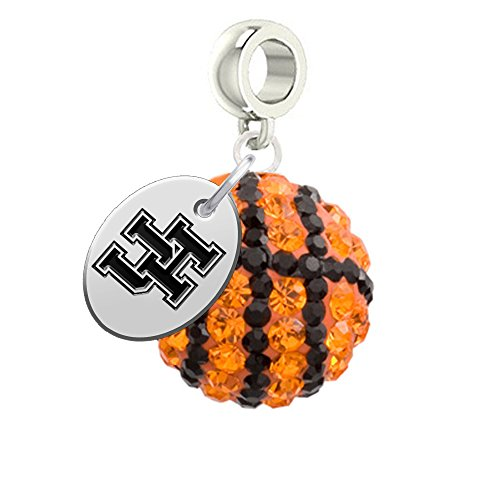 Houston Cougars Basketball Drop Charm Fits All European Style Bracelets