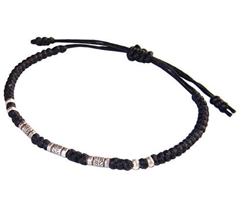 lun-na-asiatique-100-fait-main-argent-925-perles-de-plumes-bracelet-noir-ficelle-de-cire
