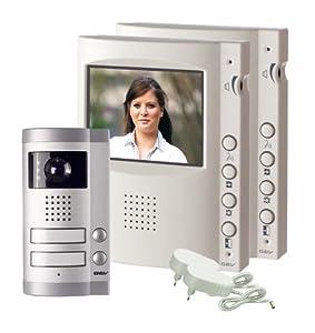 GEV Interphone portier vidéo couleur 2 foyers