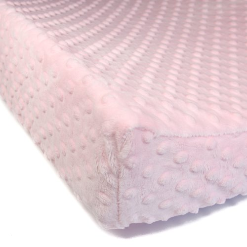 Luxe Basics Cover Comfy Contoured Changing Pad Cover, Pink Dot