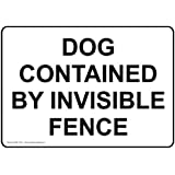 ComplianceSigns Aluminum Beware of Dog Sign, 10 x 7 in. with English Text, White