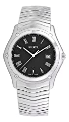 Ebel Men's 9255F51/5225 Classic Black Roman Numeral Dial Watch from Ebel