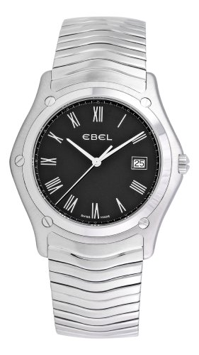 Ebel Men's 9255F51/5225 Classic Black Roman Numeral Dial Watch