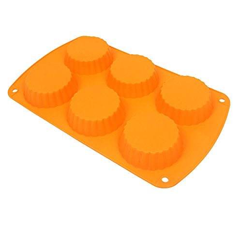 Webake 6-Cavity Non-Stick Tart Pan (Orange, 1pcs) (Peanut Butter Cup Pie compare prices)