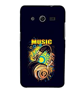EPICCASE Beat that Music Mobile Back Case Cover For Samsung Galaxy Core 2 (Designer Case)