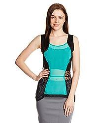 PrettySecrets Women's Tunic Shirt (PSW14BLS55 _Green_L)