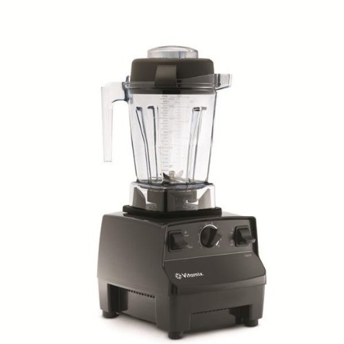 Vitamix 5200 - with Compact 48oz Container 7 YR WARRANTY Variable Speed Countertop Blender with 2+ HP Motor , a Cookbook/DVD & Spatulas . (Black)