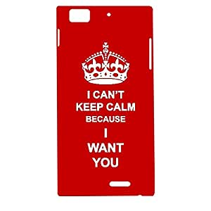 Skin4gadgets I CAN'T KEEP CALM BECAUSE I WANT YOU - Colour - Red Phone Designer CASE for LENOVO K900