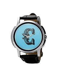 PosterGuy Alphabet C Typography Men's Wrist Watches