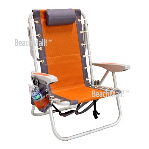 Ultimate Backpack Beach Chair with Cooler - LayFlat 5 position