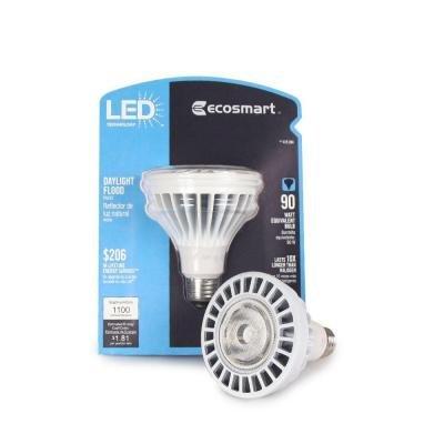 Ecosmart 15-Watt (90W) Daylight (5000K) Par30 Led Flood Light Bulb (E)*