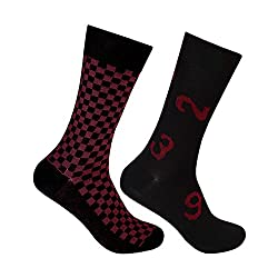 Supersox Mens Regular Length Socks (Pack of 2) (MMCD0069_Multi-Coloured_Free Size)