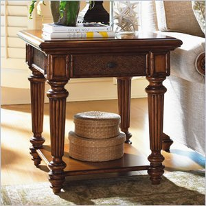 Cheap Tommy Bahama Home Island Estate Boca End Table in Plantation (01-0531-952)