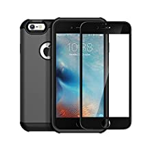 buy Anker Toughshell & Glassguard+ Combo For Iphone 6 Plus / 6S Plus, High-Protection Case For Iphone 6 Plus / 6S Plus With Custom-Designed Tempered-Glass Screen Protector, Full Phone Protection(Gunmetal)